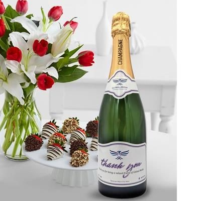 Picture of CUSTOMISED CHAMPAGNE GIFT 750ML
