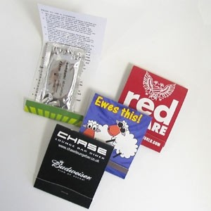 Picture of FULL COLOUR BOOK MATCH STYLE CONDOM HOLDER